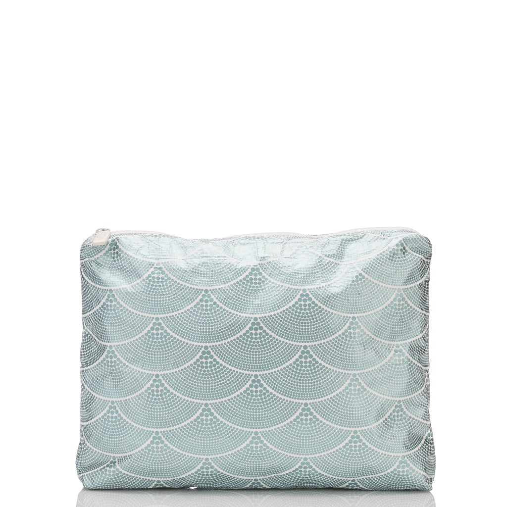 Mid Art Deco Mermaids Pouch in Metallic Teal