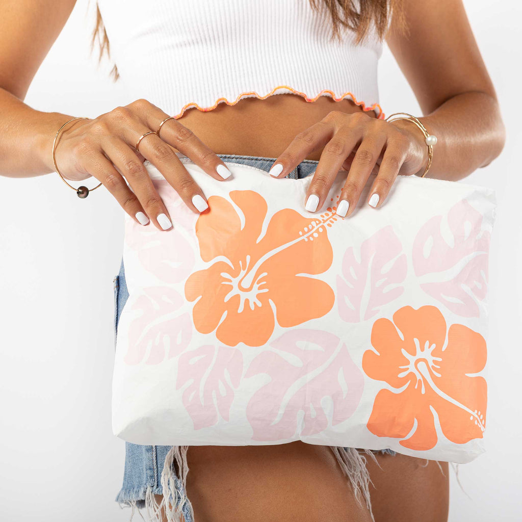 Mid Big Island Hibiscus Pouch