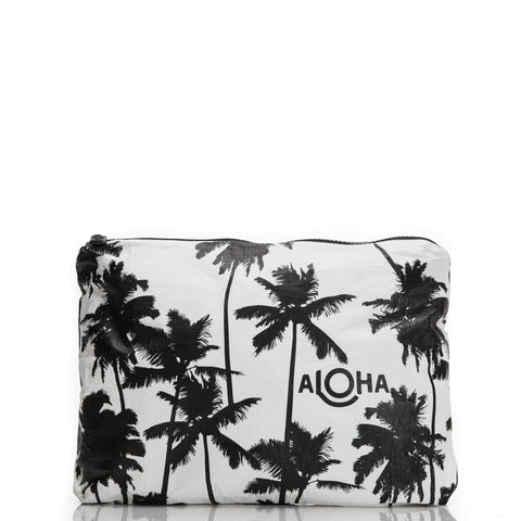 Coco Palms Mini Duffle, black print