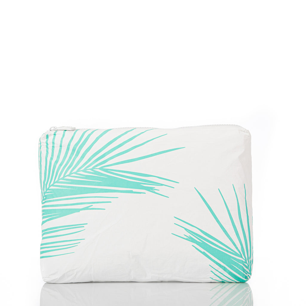 Mid Fronds Pouch in Neon Turquoise