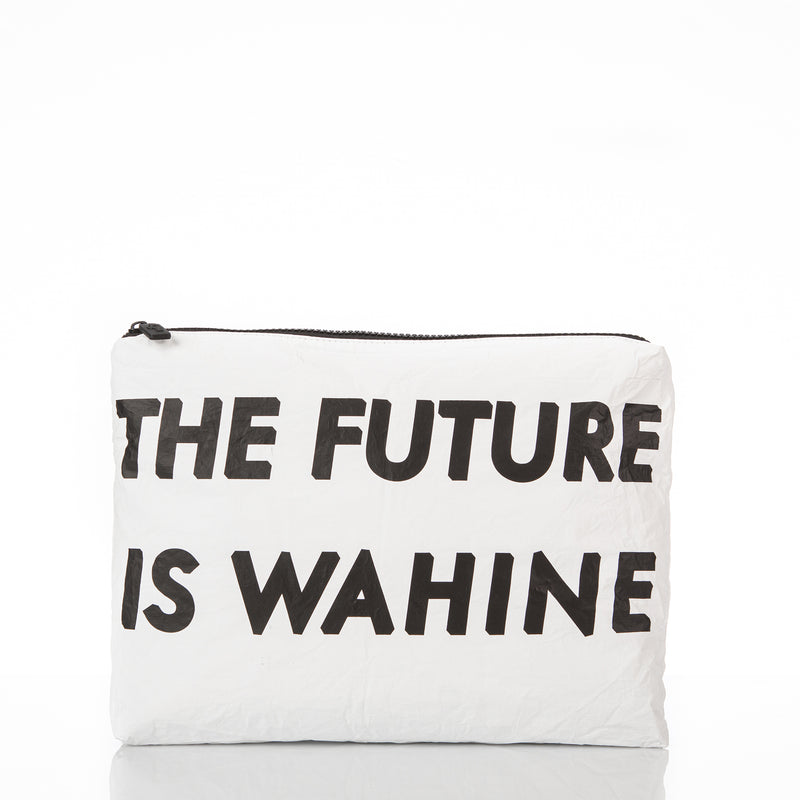 Mid WAʻAHIA The Future Is Wahine Pouch in White