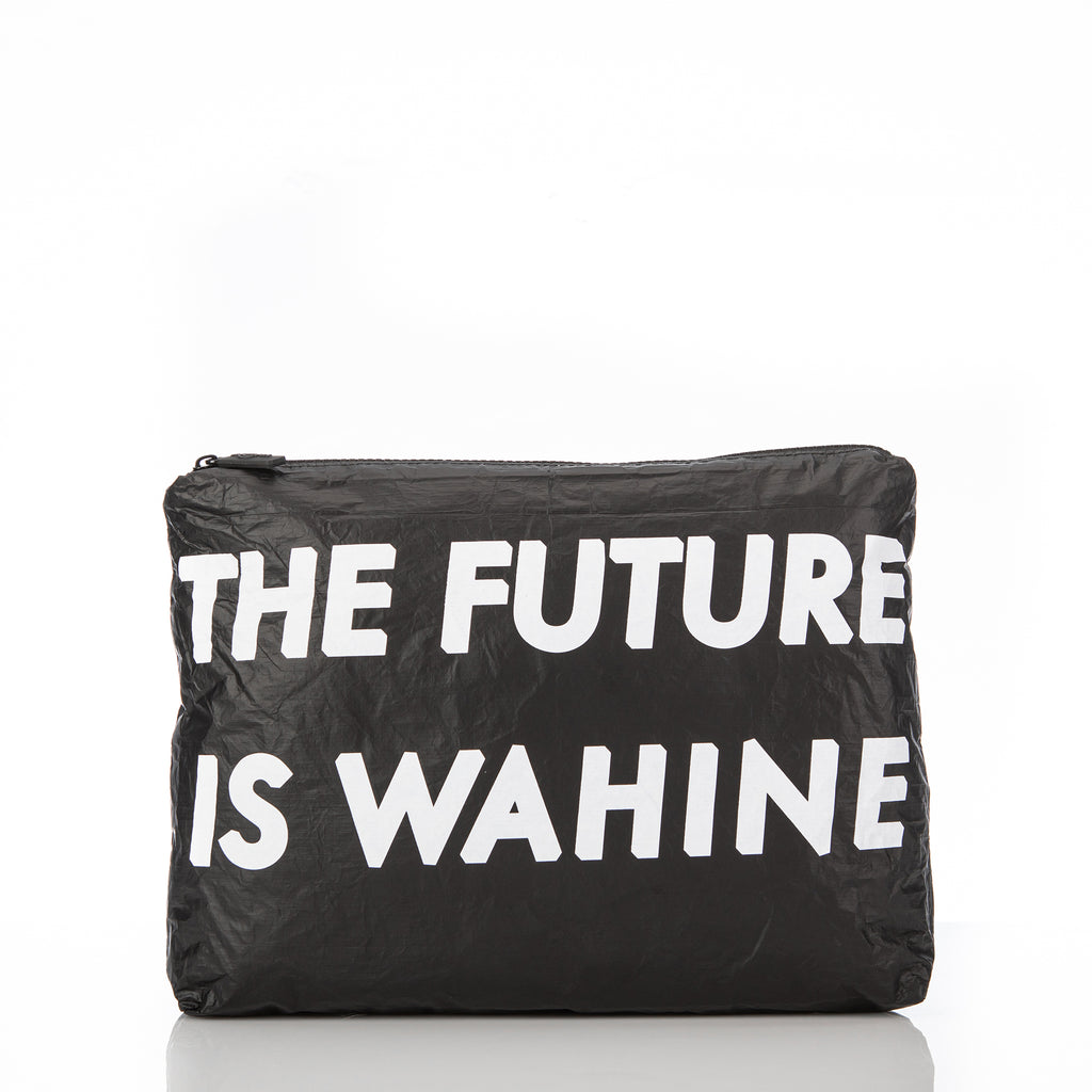 Mid WAʻAHIA The Future Is Wahine Pouch in Black