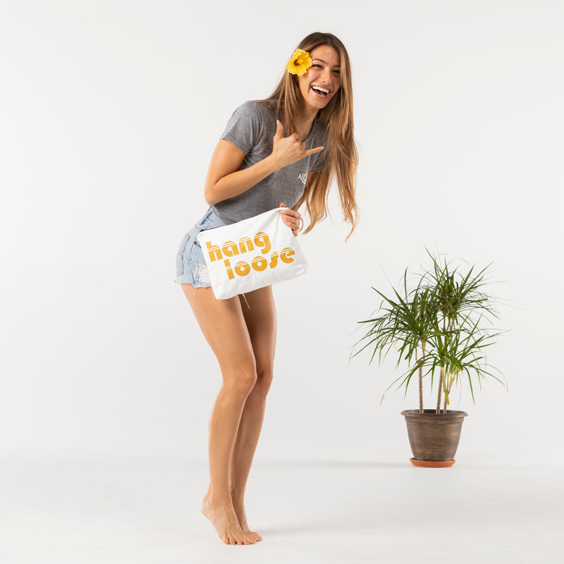 Mid Hang Loose Pouch in Mustard