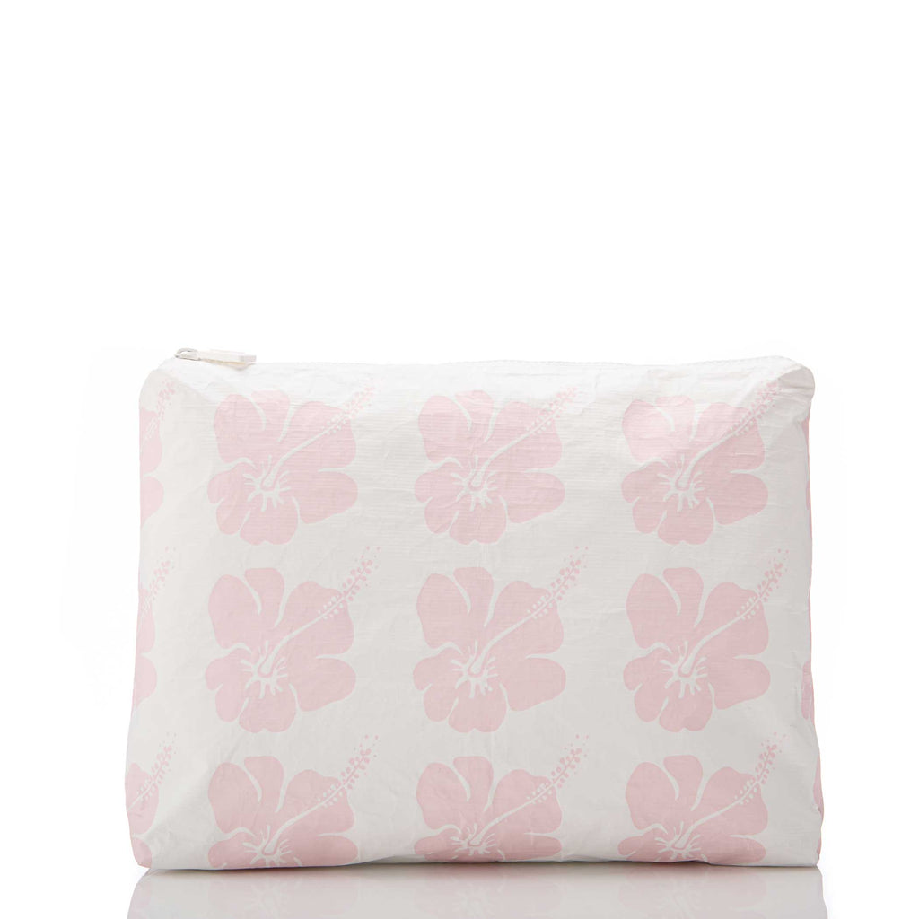 Mid Hibiscus Bloom Pouch in Mochi