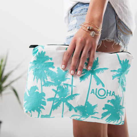 mid-size Coco Palms, ocean print