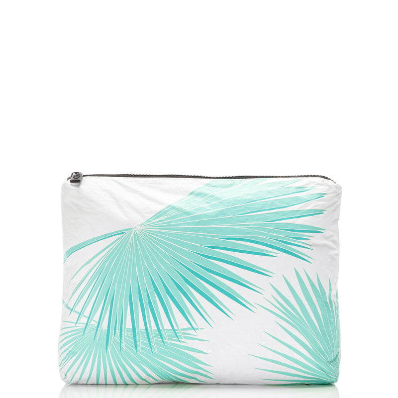 Mid Opihi Pattern Pouch in Metallic Teal
