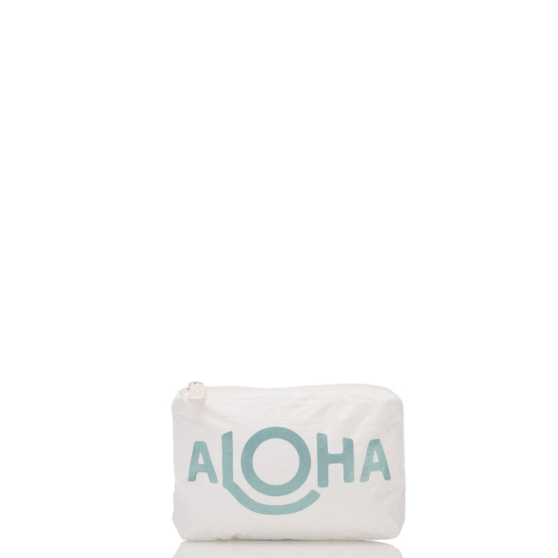Mini ALOHA Opihi Pouch in Metallic Teal