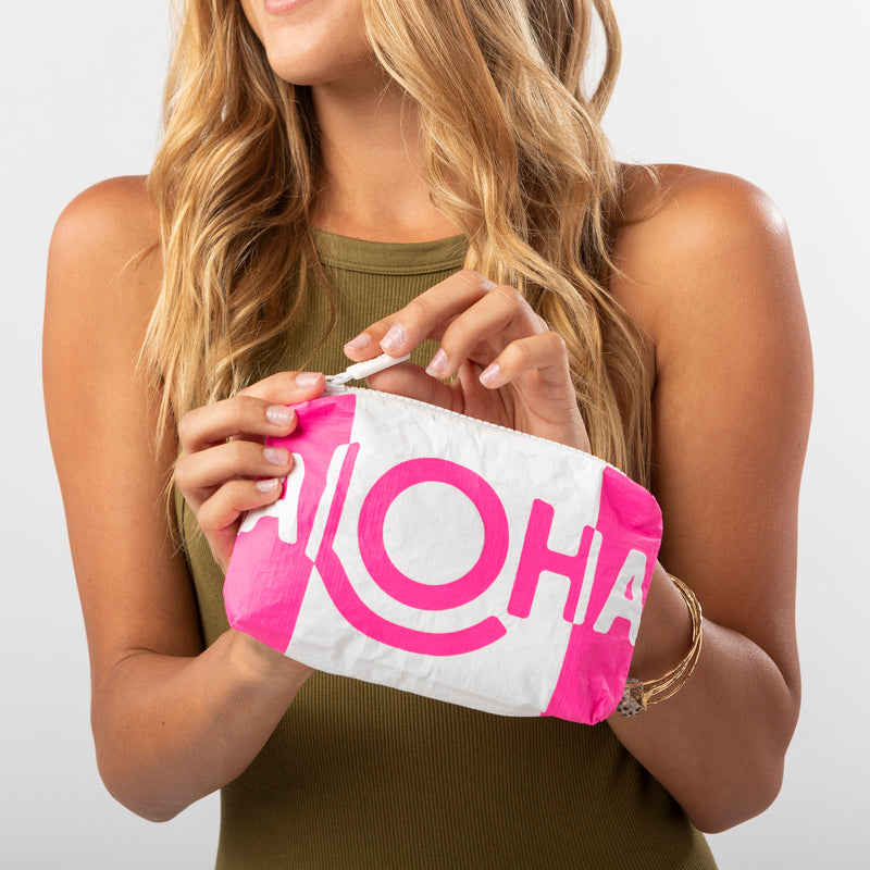 Mini ALOHA Shade Pouch in Neon Pink