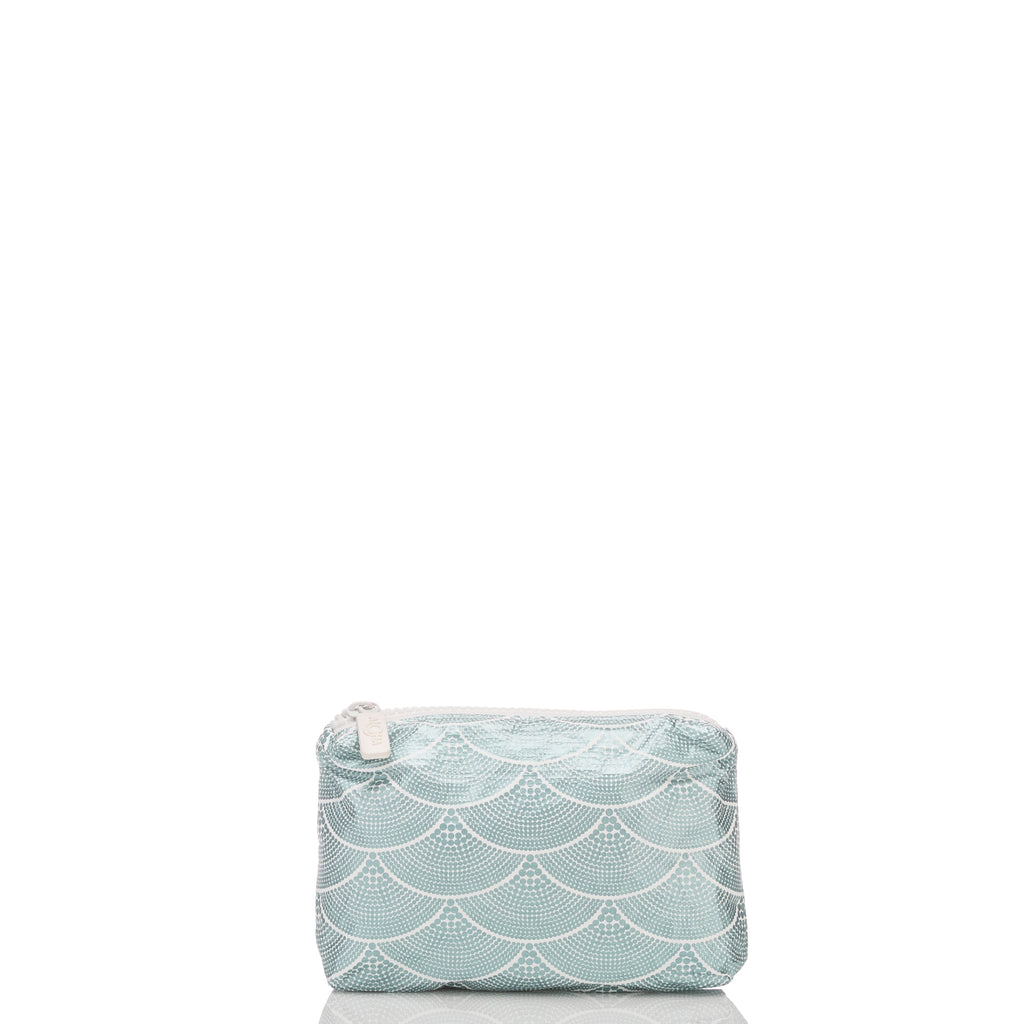 Mini Art Deco Mermaids Pouch in Metallic Teal
