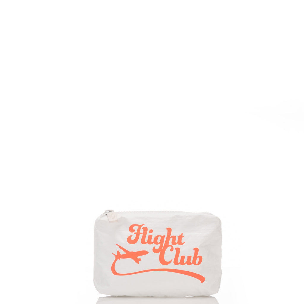 Mini Flight Club Pouch in Neon Coral