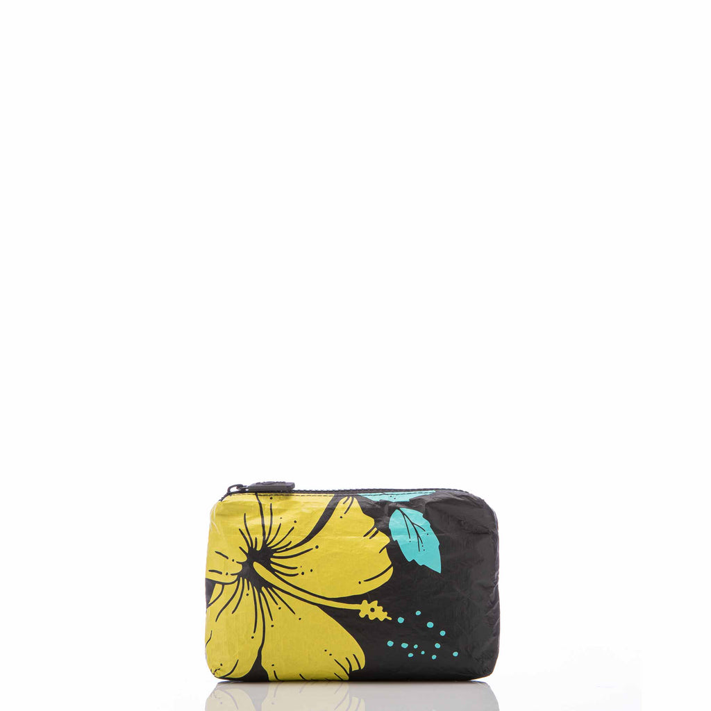 Mini Hibiscus Pouch in Canary