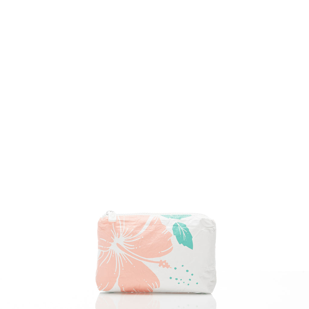 Mini Hibiscus Pouch in Guava