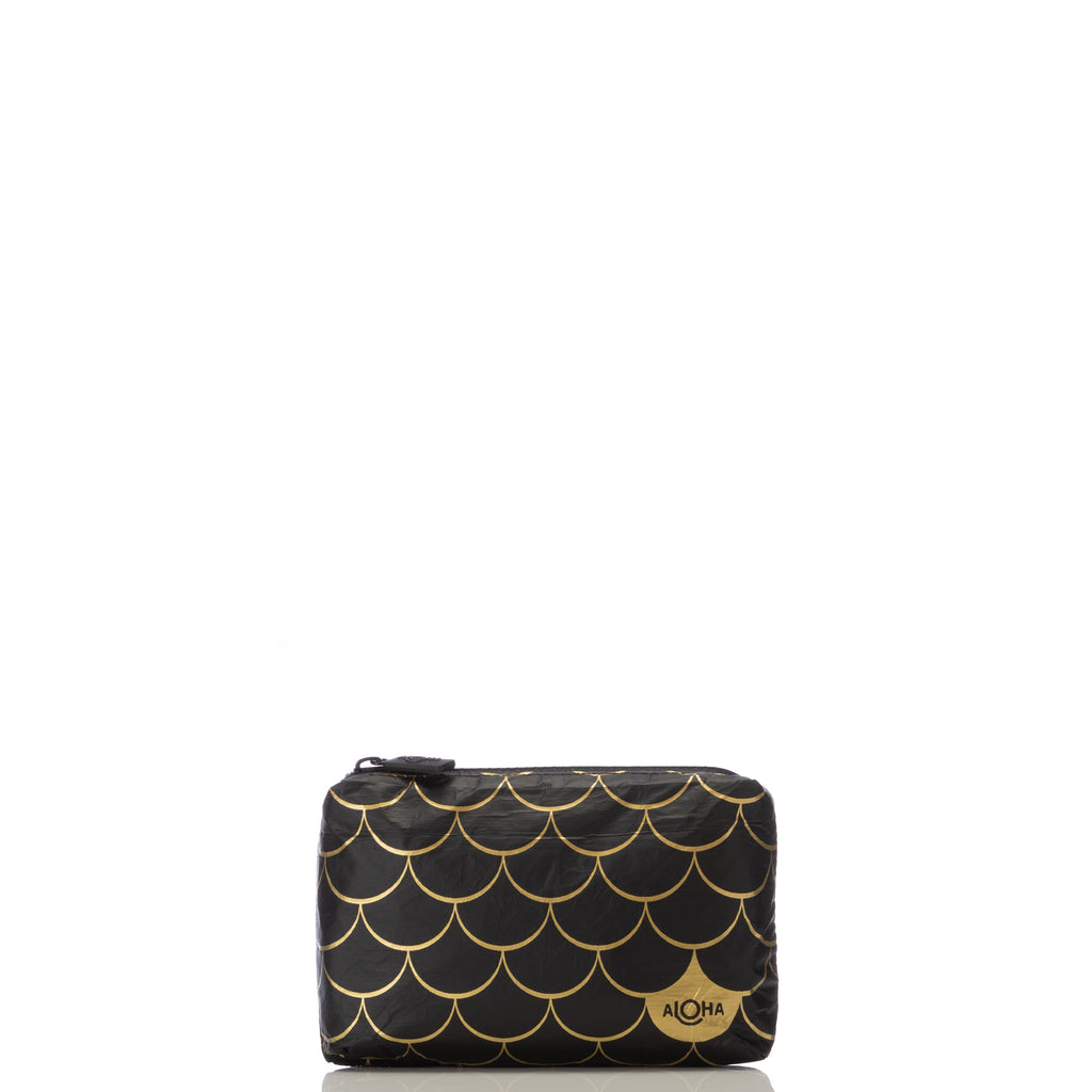 Mini Black Mermaid Pouch in Gold