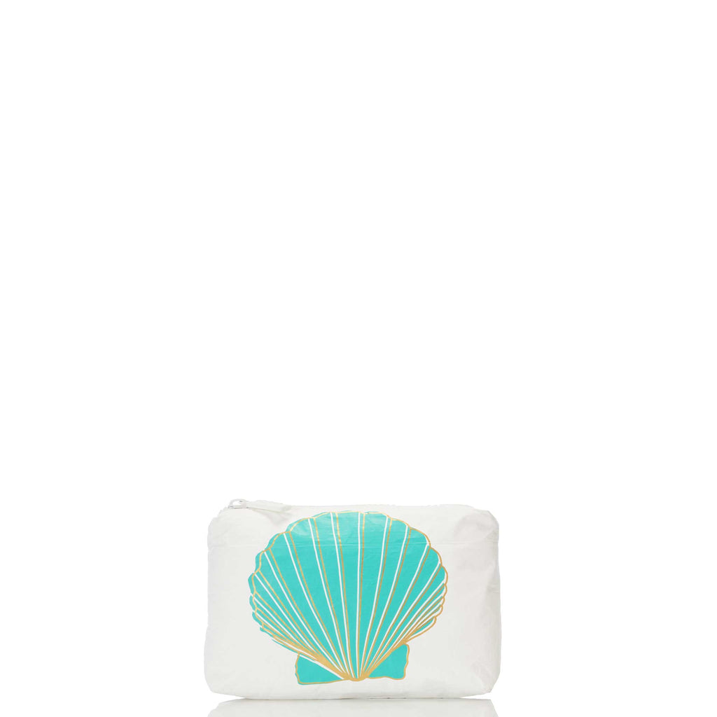 Mini Sunrise Shell Pouch in Ocean