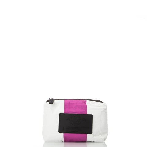 Mini Vertical Stripe Pouch in Pitaya