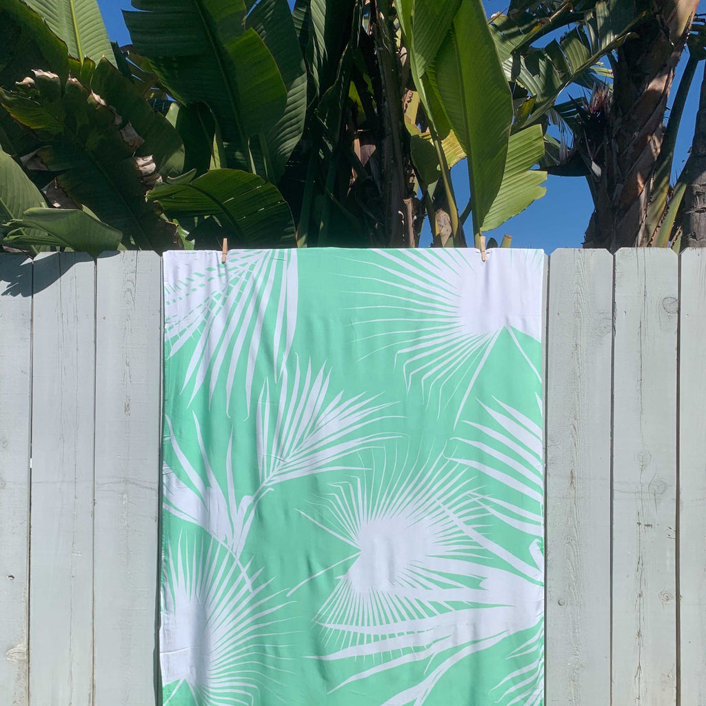 Day Palms Pareo in Seafoam