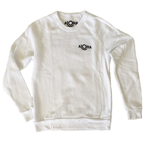 ALOHA Cozy Pullover in White