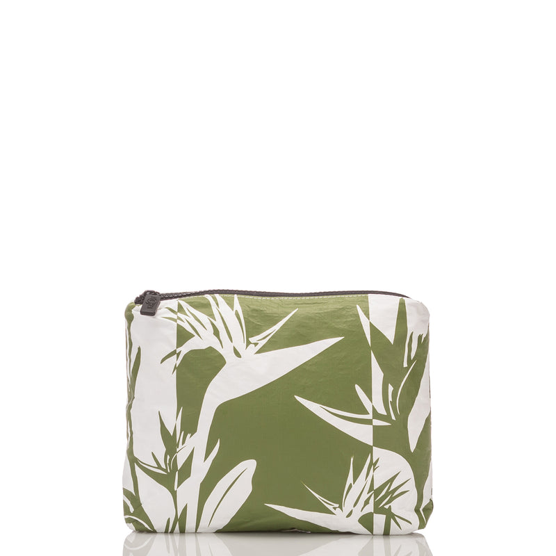 Mid Birds in Paradise Shade Pouch in Seaweed