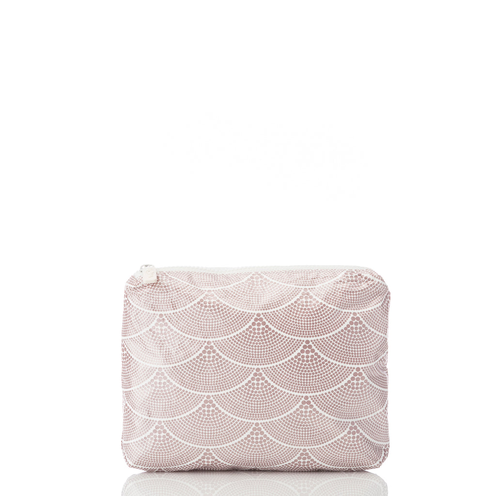 Small Art Deco Mermaids Pouch in Rose Gold