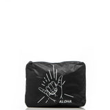 Small Shaka ALOHA Pouch in Black