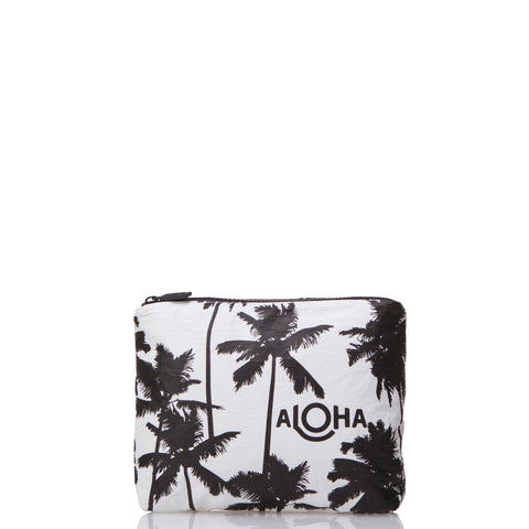 Small Coco Palms Pouch in Black