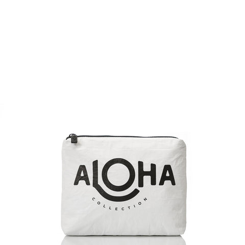 Small White Original ALOHA Pouch