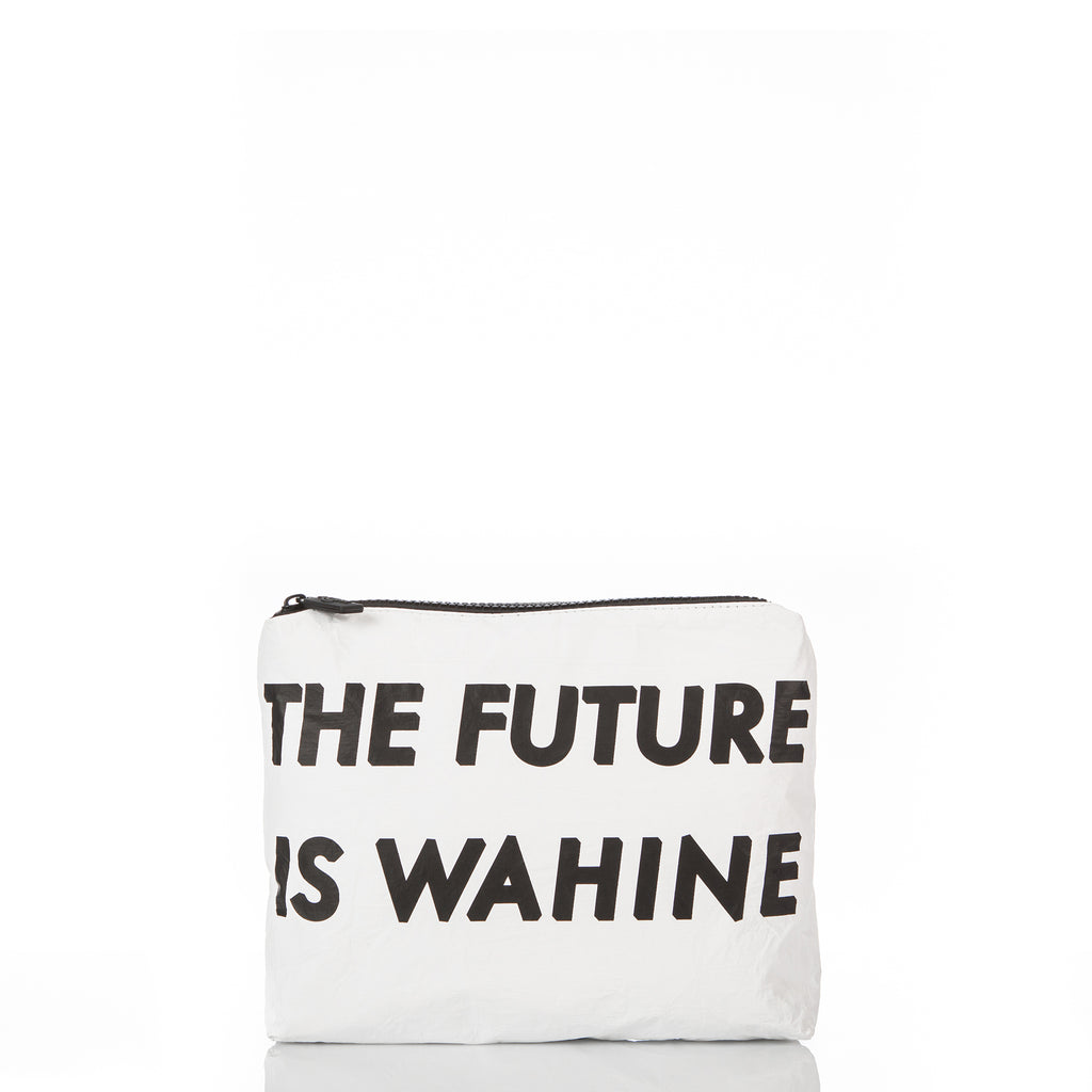 Small WAʻAHIA The Future Is Wahine Pouch in White