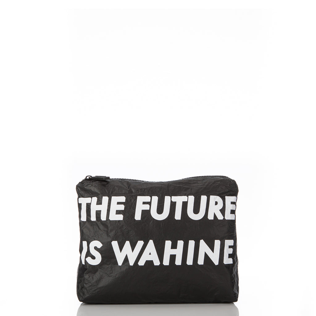 Small WAʻAHIA The Future Is Wahine Pouch in Black