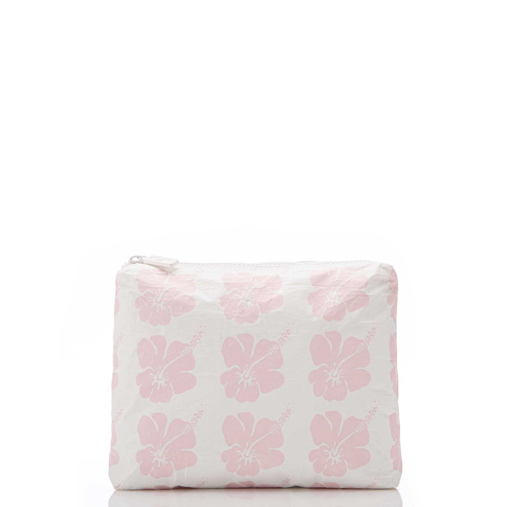 Small Hibiscus Bloom Pouch in Mochi