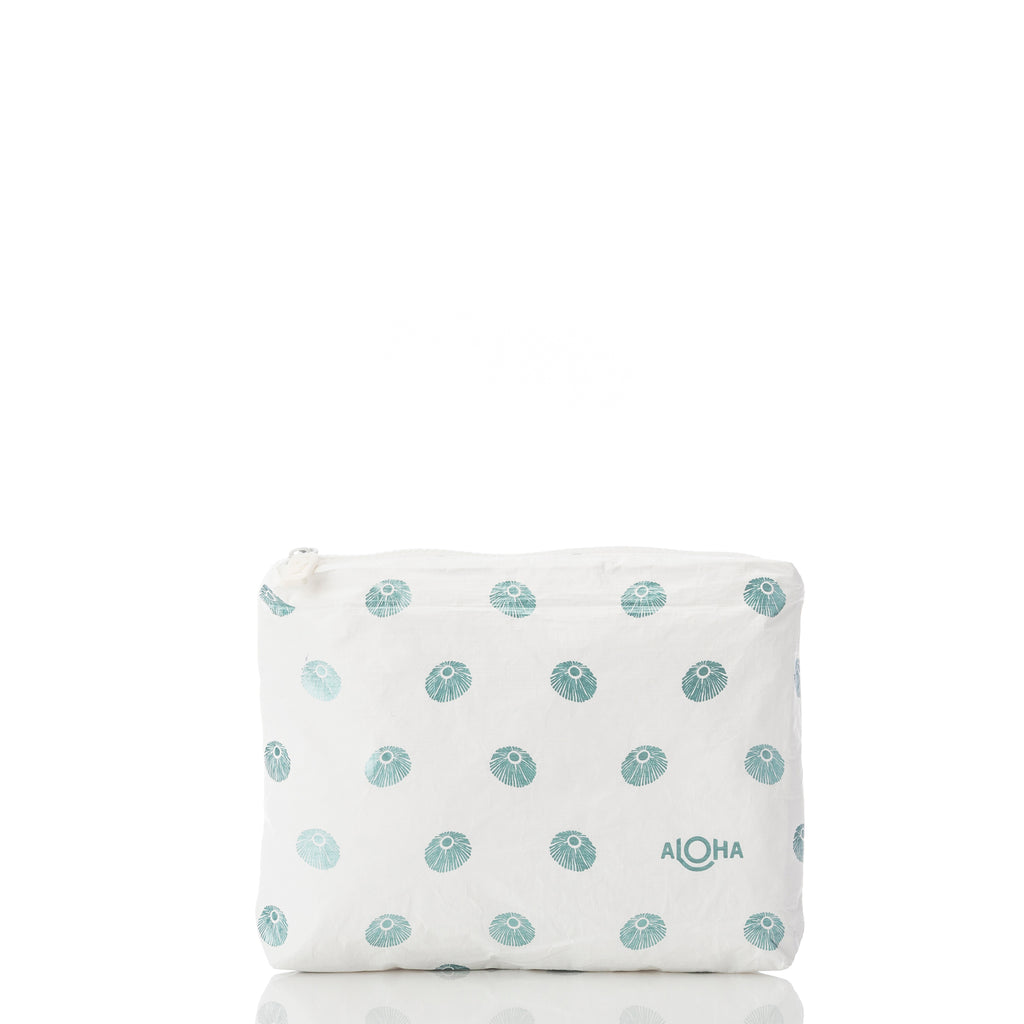 Small Opihi Pattern Pouch in Metallic Teal