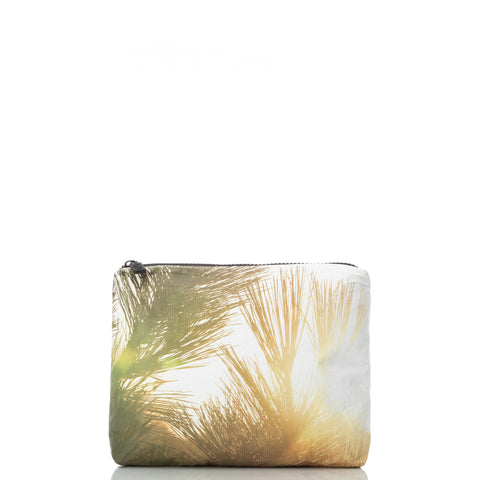Mid Coco Palms Pouch in Shaved Ice Blue