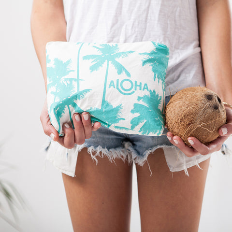 small Coco Palms, ocean print