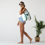 Tropical Fan Palms Zipper Tote
