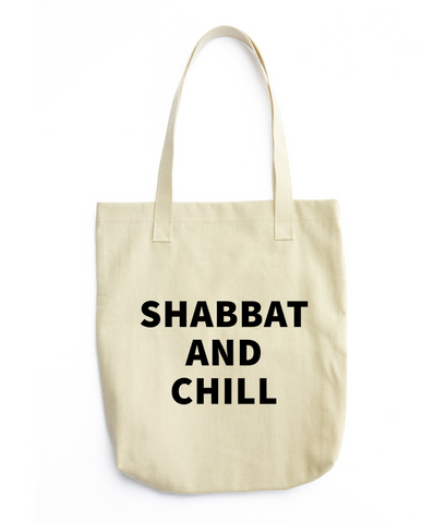 Shabbat and Chill Tote bag