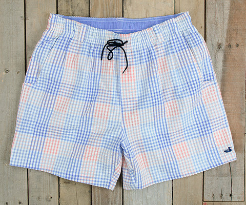 Southern Marsh Dockside Swim Trunk Seersucker Gingham