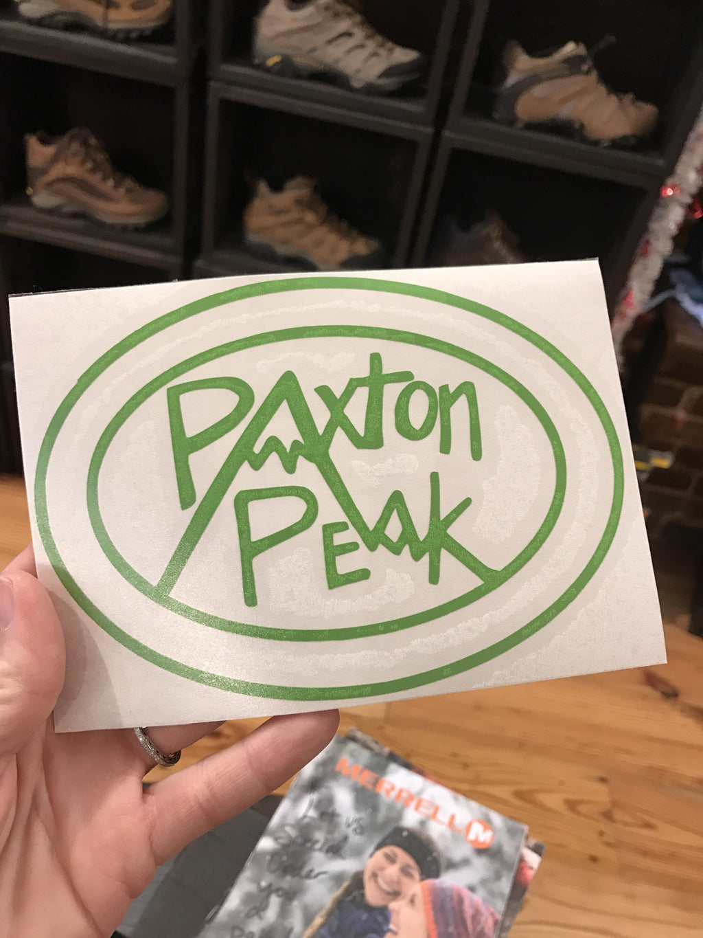 Paxton Peak Original Logo Car Decal