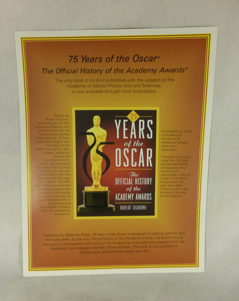 """75 Years of Oscar"" Ad Flyer"