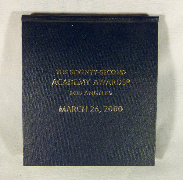 72th Academy Awards Vanity Fair Notepad and Pencil