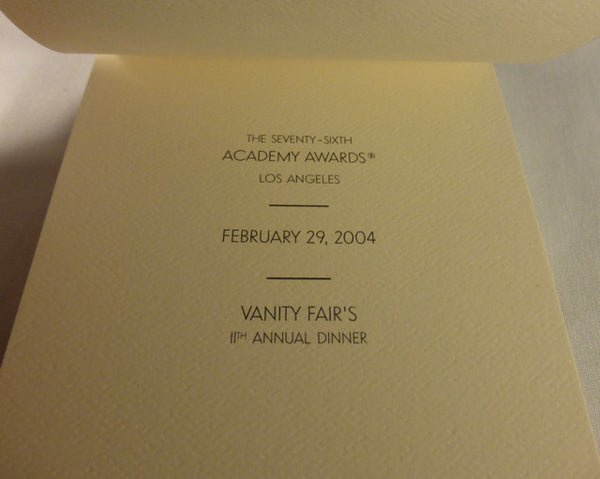 76th Academy Awards Vanity Fair Notepad and Pencil