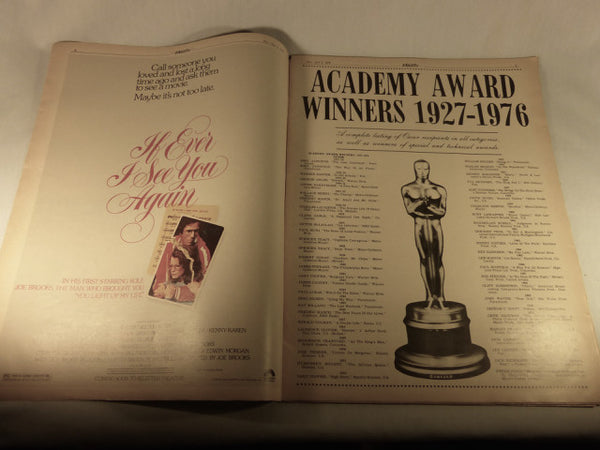 "Variety Magazine, ""Academy Awards 50th Anniversary Issue"" April 3, 1978"