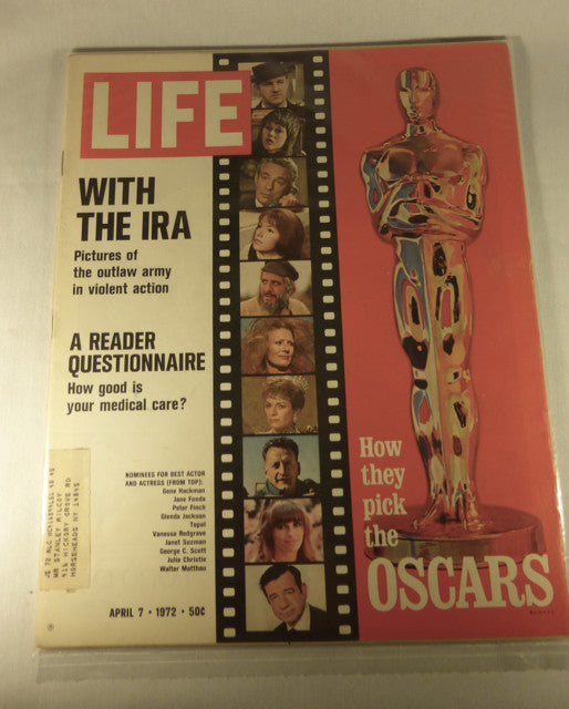 "LIFE Magazine, ""How They Pick the Oscars"" April 7, 1972"