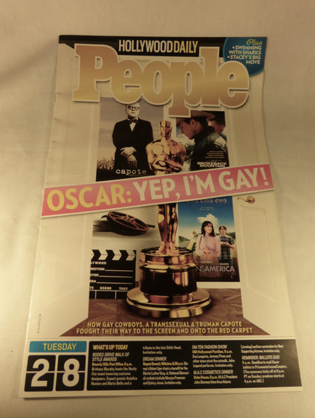 "People-Hollywood Daily, ""Oscar: Yep, I'm Gay!"" 2006"