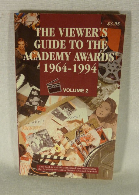 """The Viewer's Guide to the Academy Awards Vol 1"" Book (PB)"
