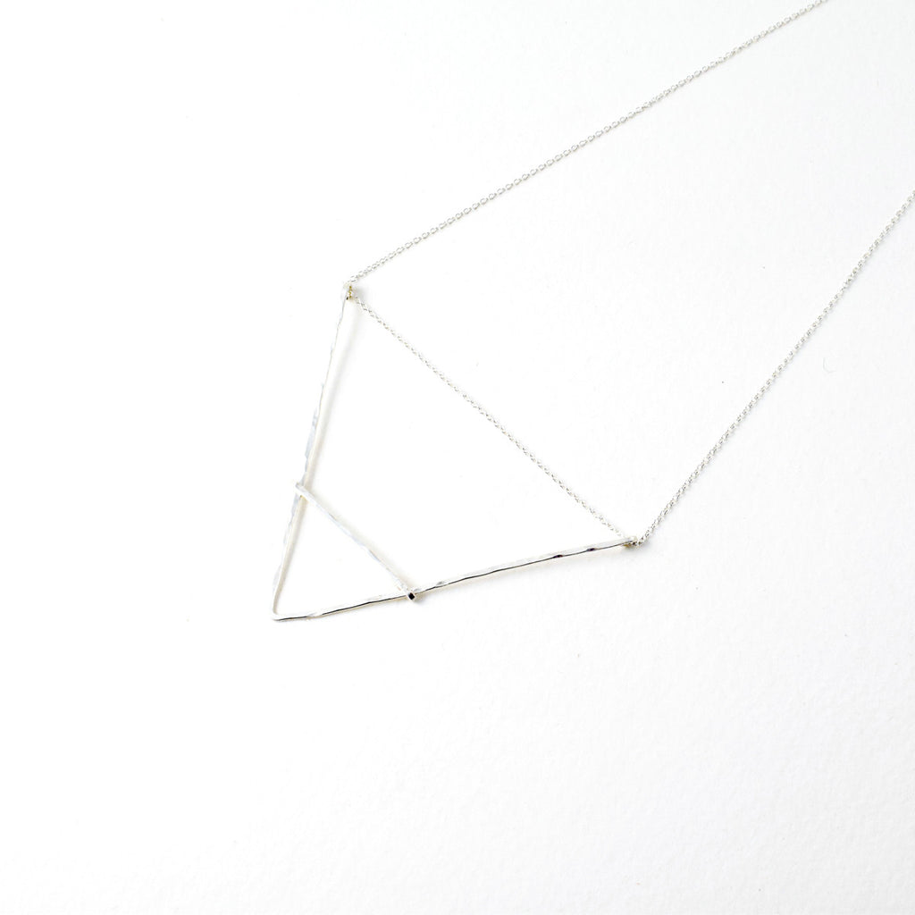 BARRED TRIANGLE NECKLACE BY GREEN TEA LEAVES