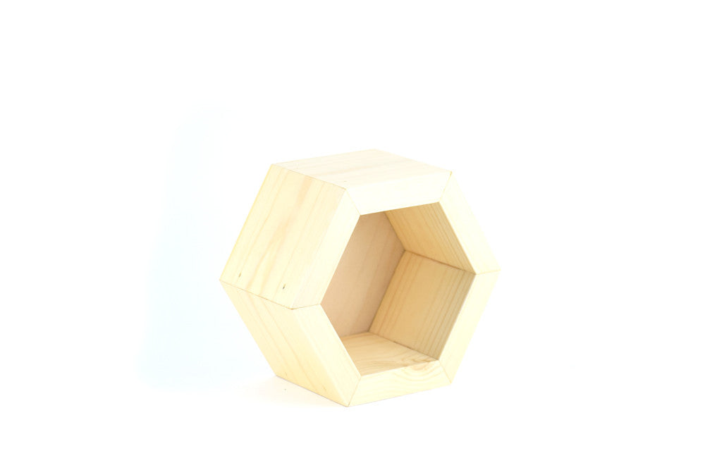 Wooden Hexagon Storage Compartment