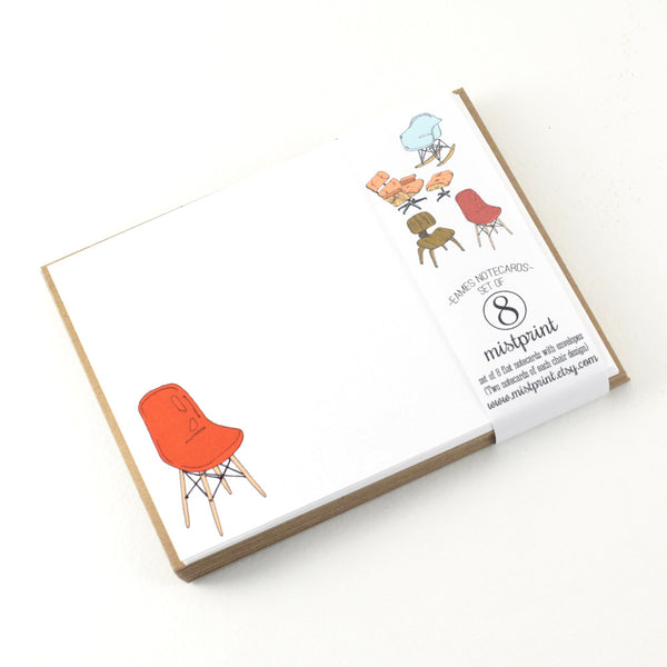 "Notecard Set with Envelopes ""Eames Chairs"" by MISTPRINT"
