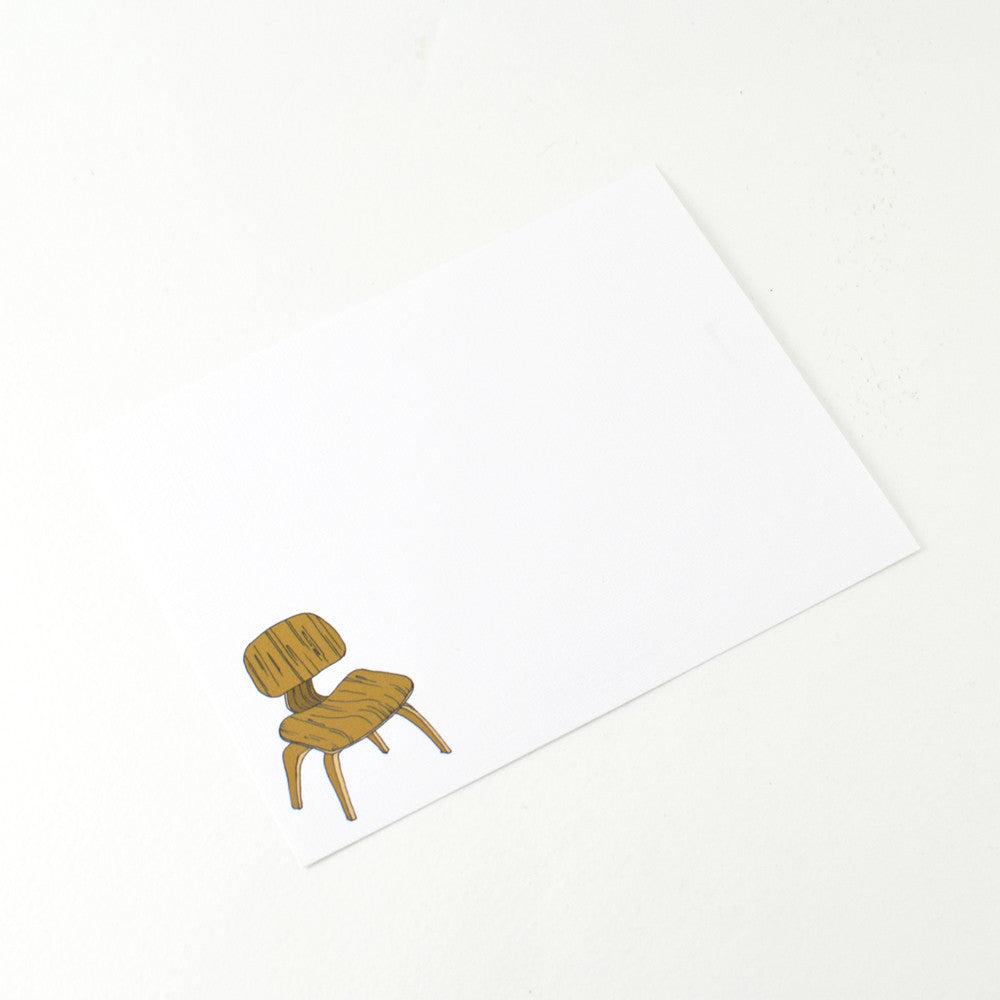 EAMES CHAIR NOTECARD SET BY MISTPRINT