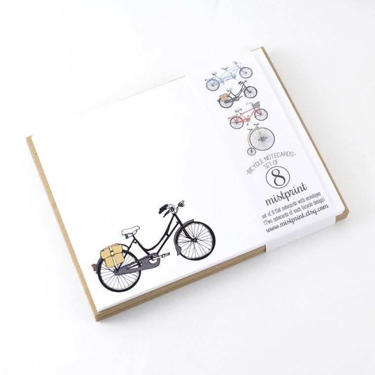Assorted Notecard Set in Bicycle