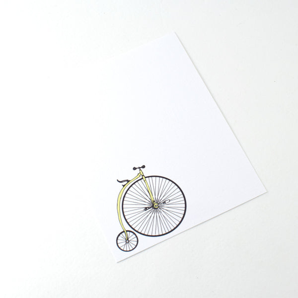 "Notecard Set of 8 ""Bicycles"" with Envelopes by MISTPRINT"
