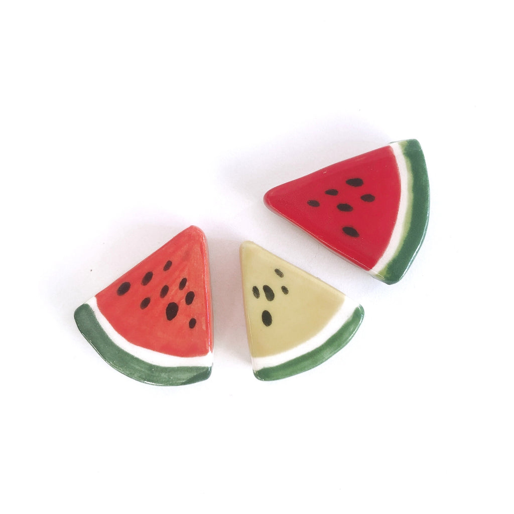 Watermelon Slice Ceramic Magnet by Beachcake